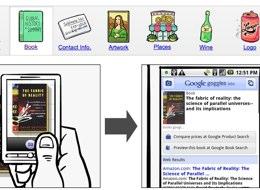 Haciendo una foto al libro se abre el navegador y explora sobre este.